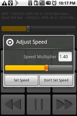 Osplay (Own Speed Player) - screenshot