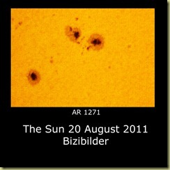 20 August 2011 Sunspot close-ups
