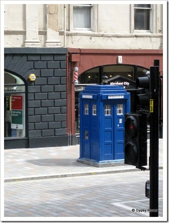 One of two Police boxes seen in Glasgow. Dr Who perhap's?