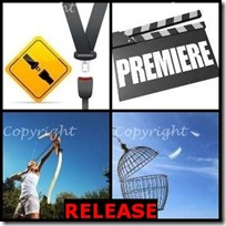 RELEASE- 4 Pics 1 Word Answers 3 Letters