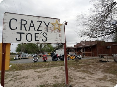 crazy joe's sign