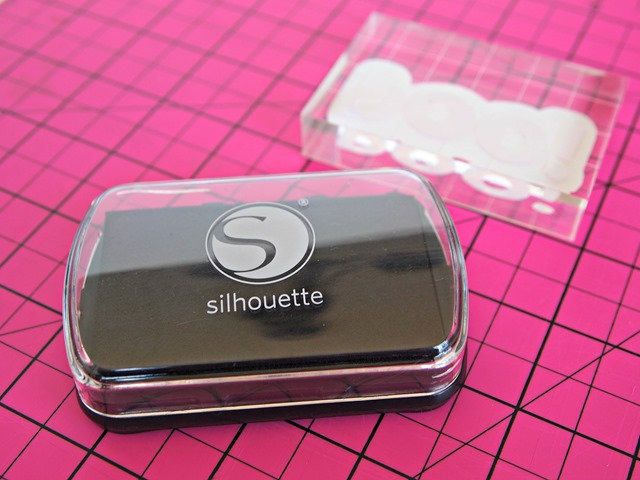 #Silhouette #stamping ink #spon