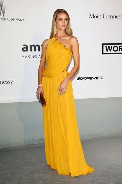 Rosie Huntington-Whiteley Arrivals Cinema Against AIDS Gala