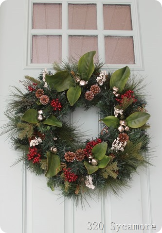 Pottery Barn Inspired Christmas Wreath 320 Sycamore