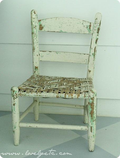 chippy vintage children's chair