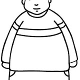 Dibujos De Niños Gordos Para Colorear