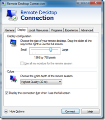 Dave's Technology: Aero Glass Remote Desktop Connection (RDS/TS)