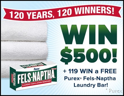 Purex Fels-Naptha Laundry Bar Contest