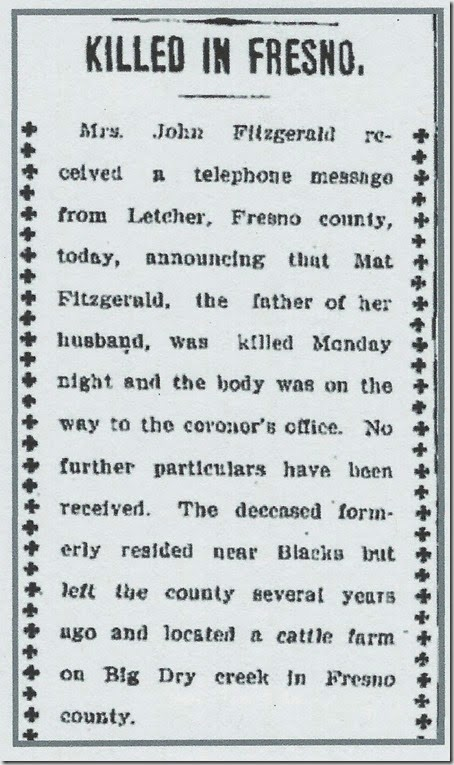 Woodland Daily Democrat, 22 Aug 1905, page 1