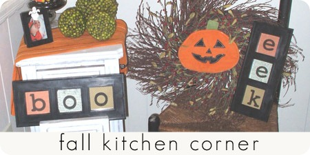 fall kitchen corner