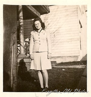1940s gal with short skirt DL Antiques