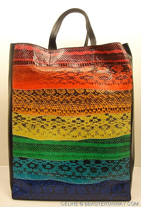 Celine Cabas Bag Ayers Patchwork in Sky Rainbow