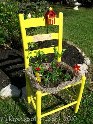 old chair garden chair