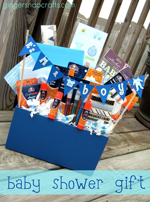 baby shower gift scrapbook supplies