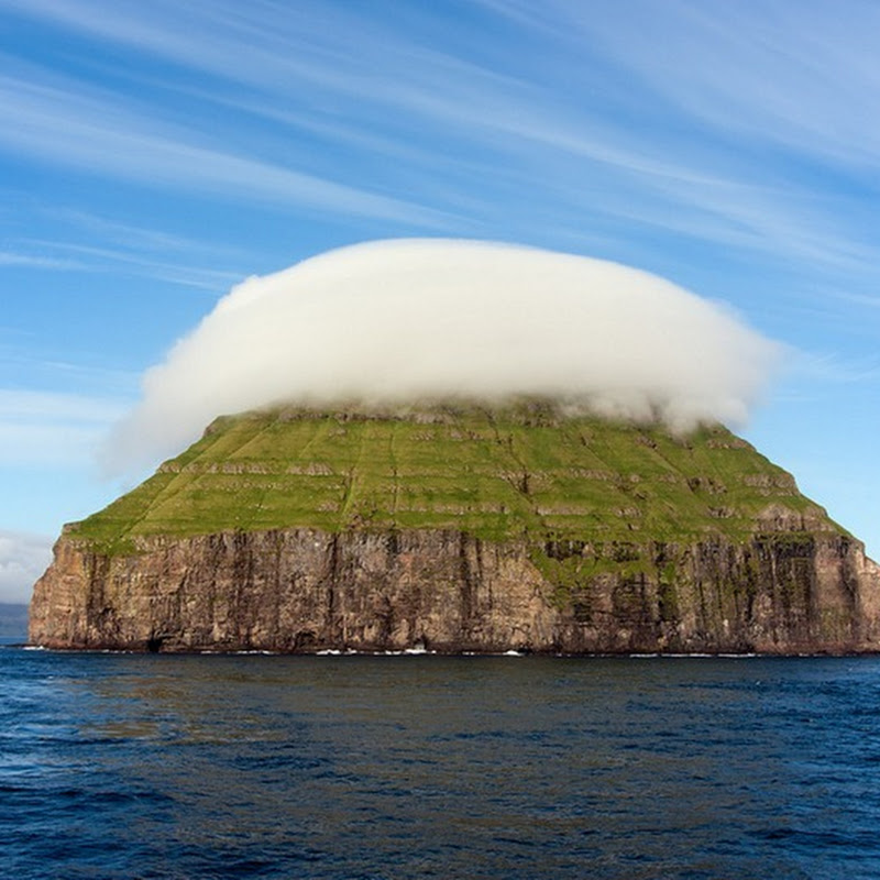 The Cloud Covered Island of Litla Dimun