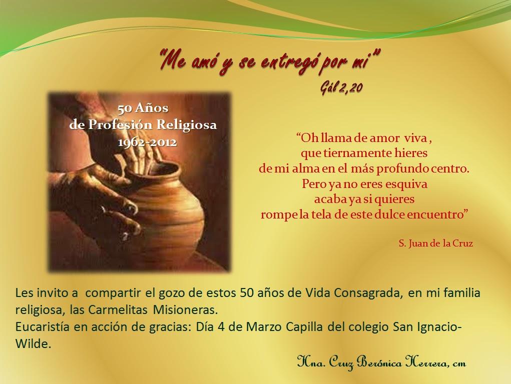 Tarjeta Invitacion 50 Años