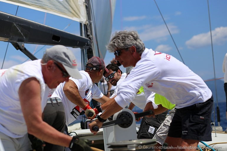 Davide sailing boat winching