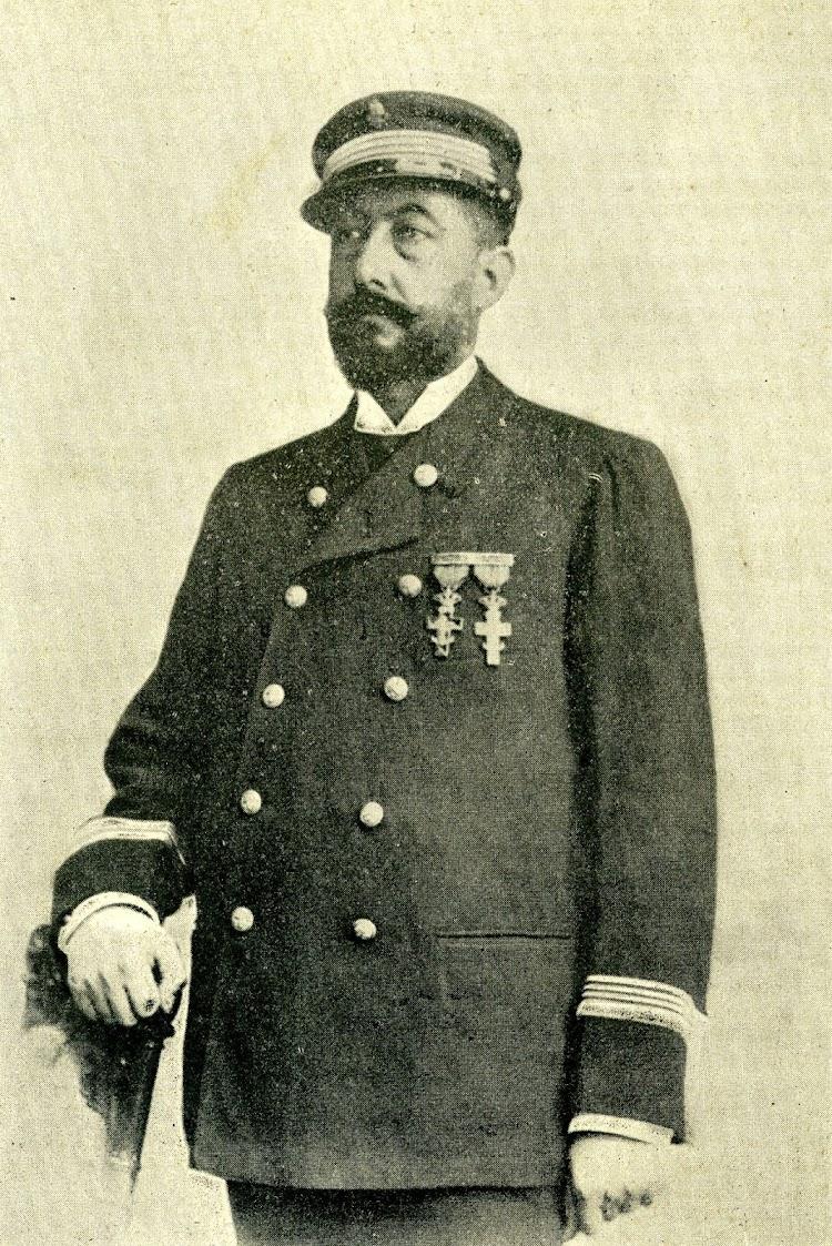 D. Modesto Pelegri y Alsina, capitan del trasatlantico PUERTO RICO. Foto de la revista El Mundo Naval Ilustrado. Año 1898.jpg