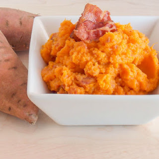 Bacon Mashed Sweet Potatoes