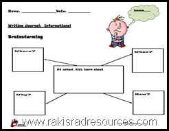 Free Primary Writing Prompt - Information Writing for First and Second Graders.