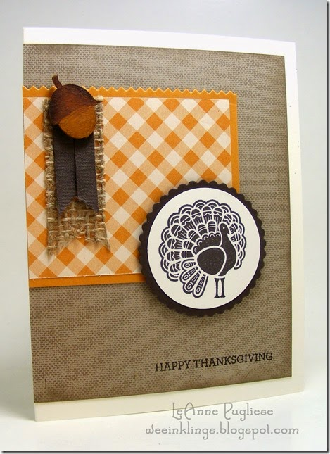 LeAnne Pugliese WeeInklings Paper Players 223 Give Thanks Thanksgiving Stampin Up