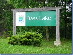 4511 Bass Lake Provincial Park - our walk in the Park - Bass Lake sign
