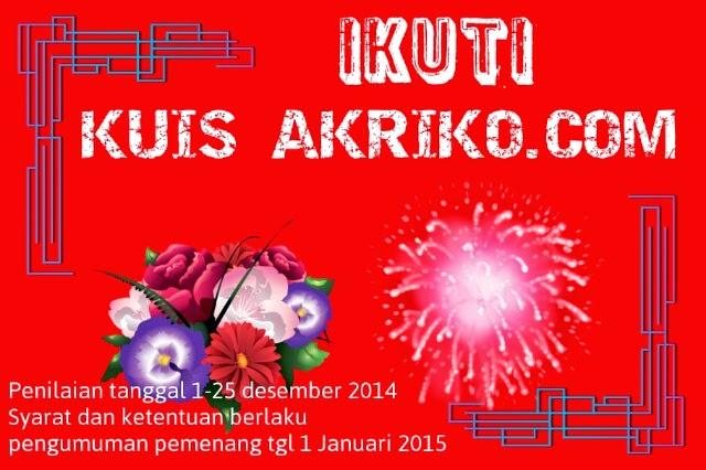 Kuis dari Akriko.com Silahkan Baca Syaratnya!