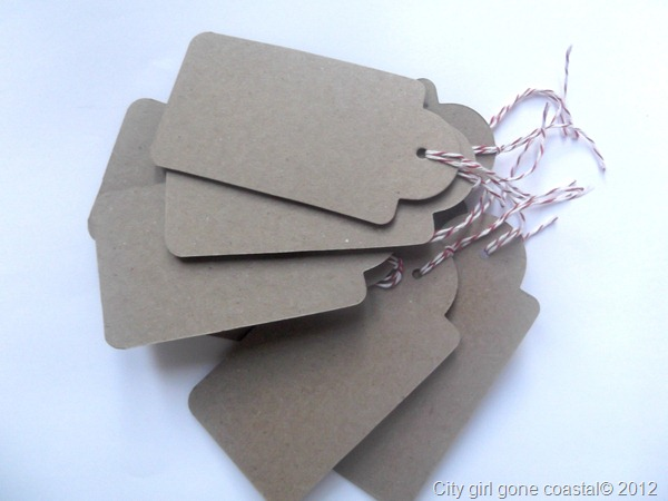 kraft tags and bakers twine