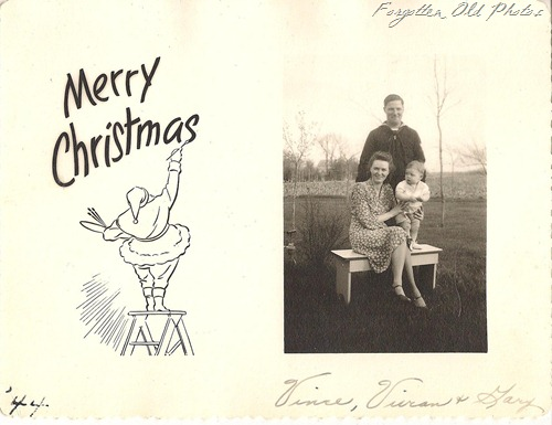 Christmas Vince Vivian and Gary 1944 DL Antiques