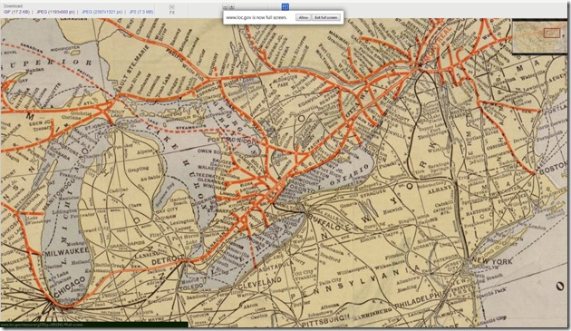 Library of Congress Map of Canadian Pacific Railway Lines