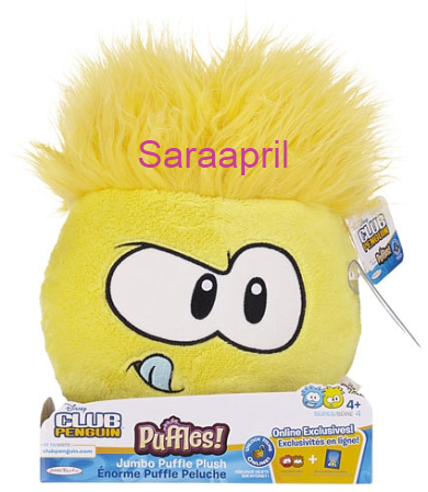 Yellow Jumbo Puffle Plush 8 Inch :)