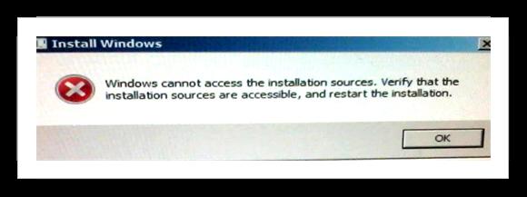 Install Windows Error