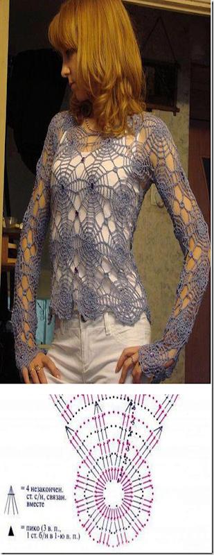 jersey telaraña de crochet