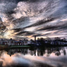Riverside by Stephen Davis - Landscapes Cloud Formations