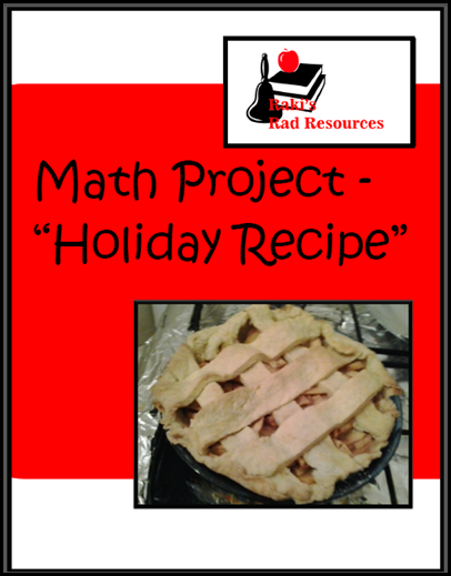 Math project where students plan out the creation of a special holiday recipe.  Free download from Raki's Rad Resources.