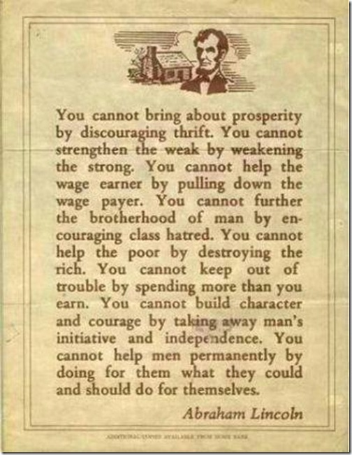 Lincolns words