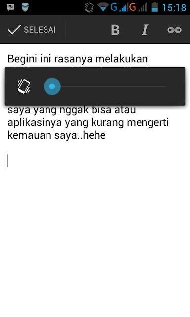 Nge- Blog lewat Blogger for android