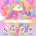 폰꾸미기 Cute BalloonCat icon