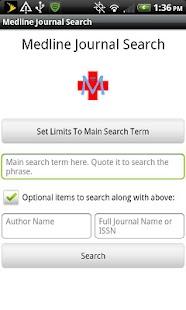 Medline Journal Search- screenshot thumbnail