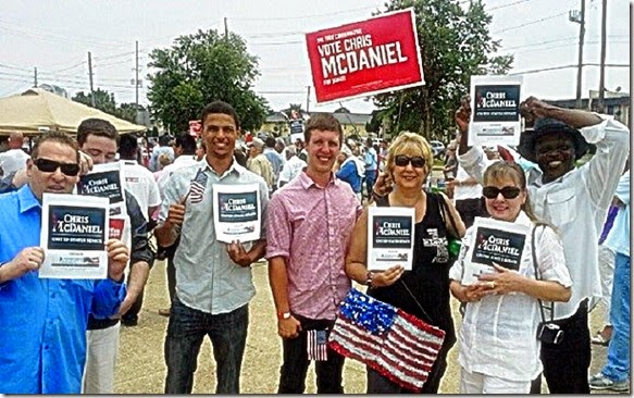 Conservative Campaign Committee Endorses Chris McDaniel signs to voters in Mississippi