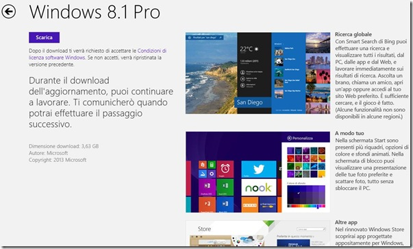Scarica Windows 8.1