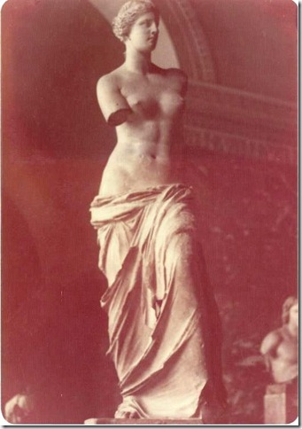 Stone statue of Venus at the Louvre