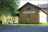 Seitenansicht Bahnhof Nové Hamry