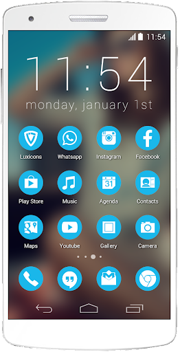 Luxicons Icy Blue White