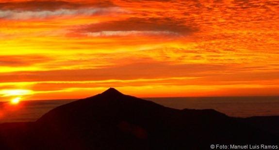 El Teide, desde el cielo