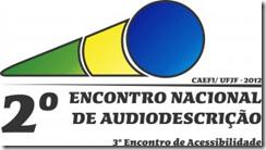 2º Encontro Nacional de Audiodescrição - logomarca