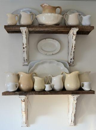 barnwood shelves