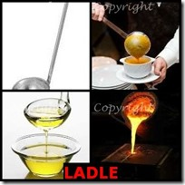 LADLE- 4 Pics 1 Word Answers 3 Letters