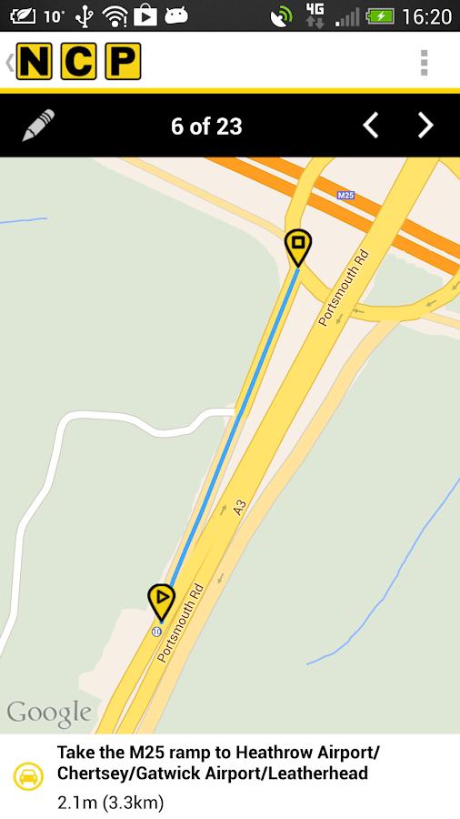NCP Car Park Finder- screenshot