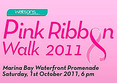 Watsons Pink Ribbon Walk Marina Bay